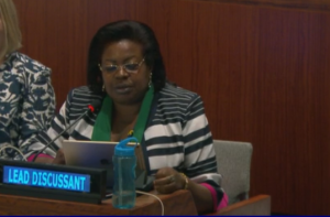 Women 2030 partner Gertrude Kenyangi as lead discussant on SGD 15 at HLPF