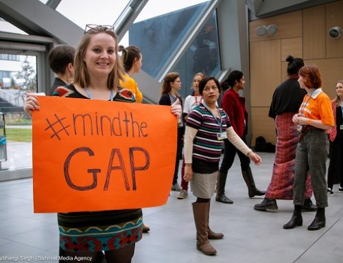 #MindTheGAP demonstration: feminists calling for a robust Gender Action Plan (GAP) as an outcome of the climate negotiations (COP23)