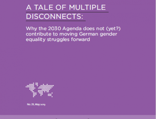 A tale of multiple disconnects: why the 2030 Agenda does not (yet?) contribute to moving German gender equality struggles forward