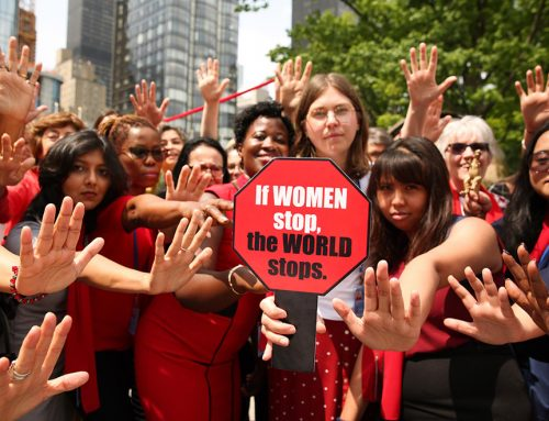 Feminists speak out on women's labor rights at United Nations High Level Political Forum