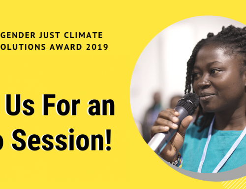 WEBINAR: info session on the Gender Just Climate Solutions award